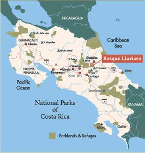 costa rica forest map